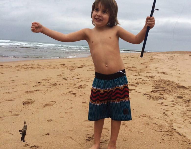 Fishing fun on the beach